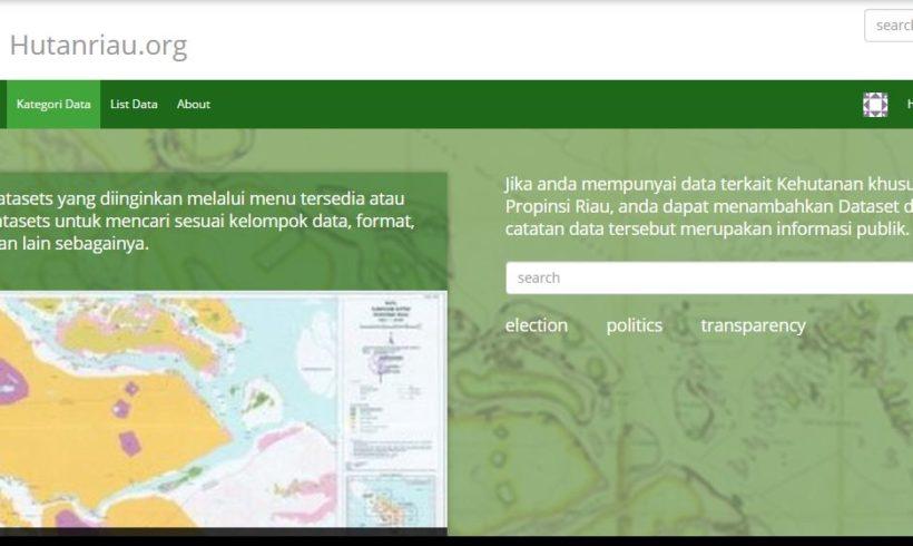 Yayasan Hutanriau Sediakan Situs Informasi Izin Konsesi