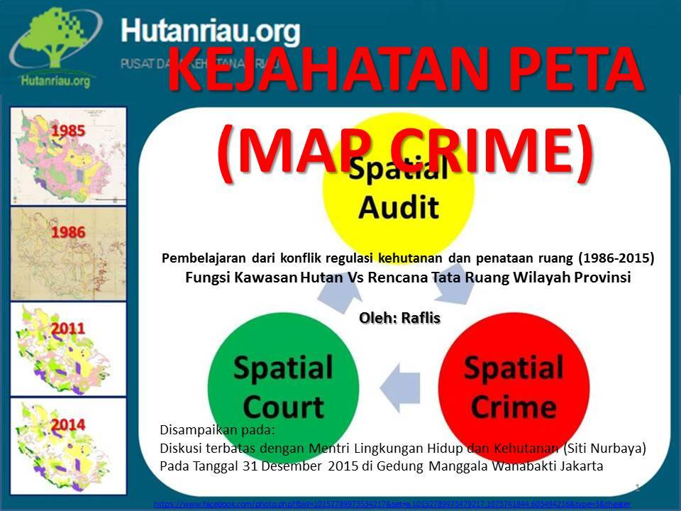 Geospatial data analysis for Riau One Map